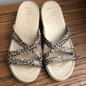 CROCS leopard cheetah sandals
